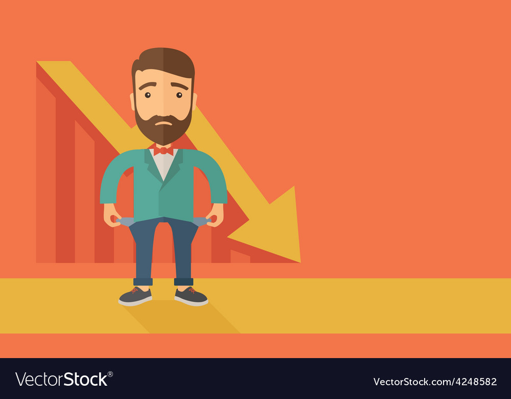 Failed businessman vector | Price: 1 Credit (USD $1)