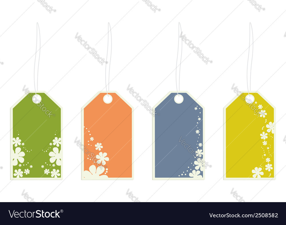 Flower gift tags vector | Price: 1 Credit (USD $1)
