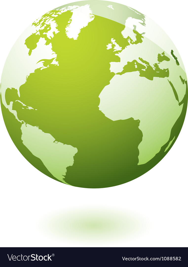 Green icon earth gel vector