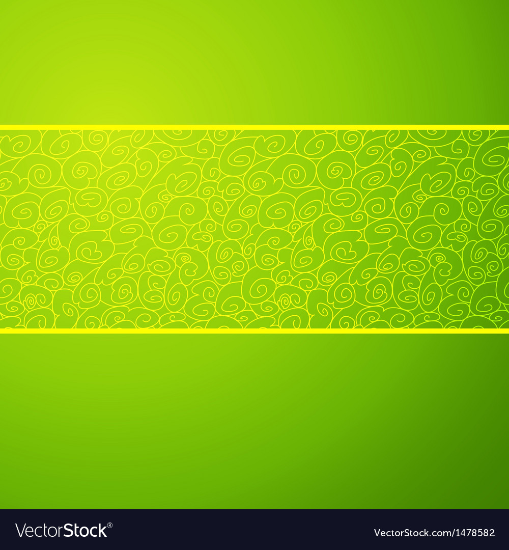 Green wave horizontal ornamental background vector | Price: 1 Credit (USD $1)