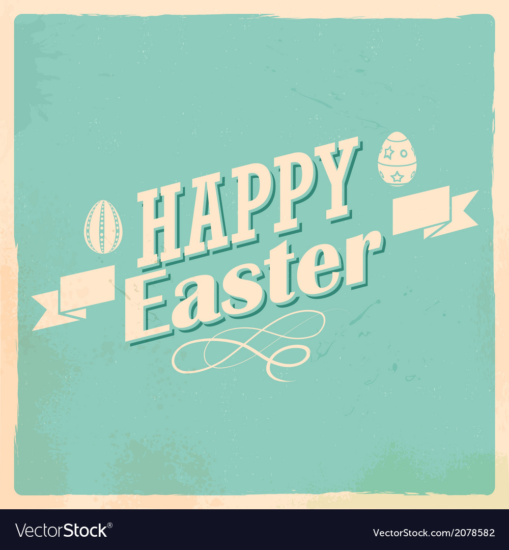 Happy easter typography background vector | Price: 1 Credit (USD $1)