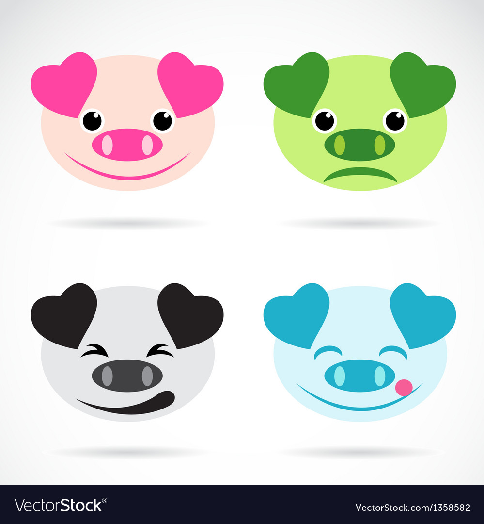 Image of an pig face vector | Price: 1 Credit (USD $1)