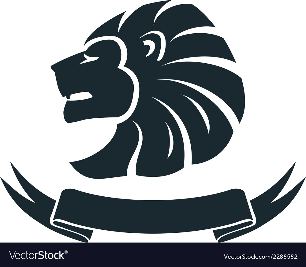 Lion head emblem vector | Price: 1 Credit (USD $1)