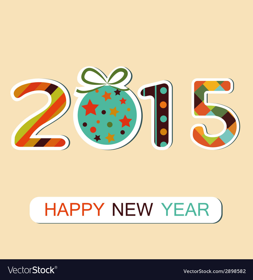 New year 2015 background vector | Price: 1 Credit (USD $1)