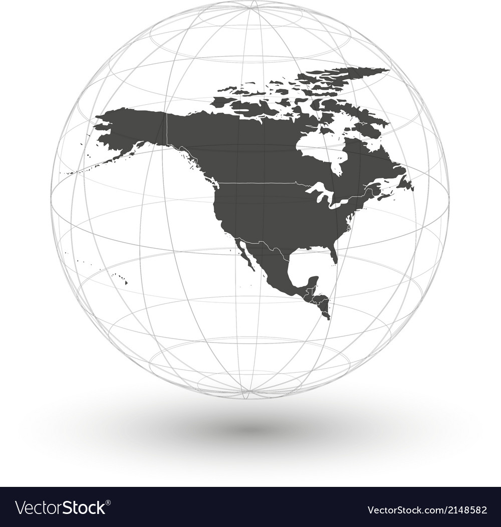 North america map background vector | Price: 1 Credit (USD $1)