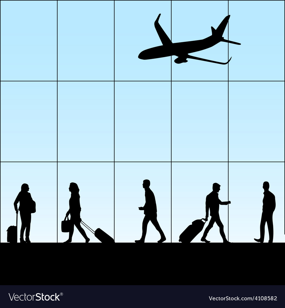 People in airport vector | Price: 1 Credit (USD $1)