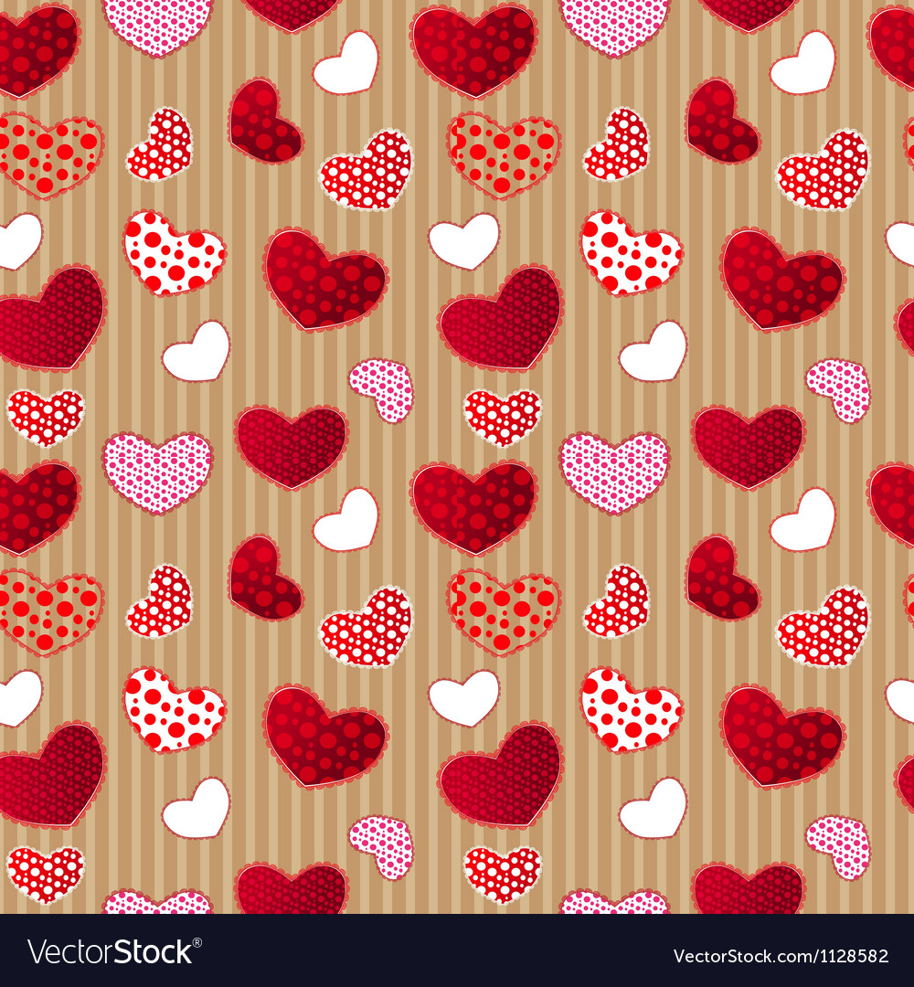 Red vintage love valentins day seamless pattern vector | Price: 1 Credit (USD $1)