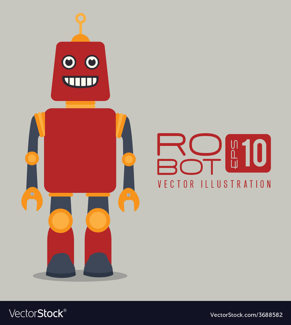 Robot design over gray background vector | Price: 1 Credit (USD $1)