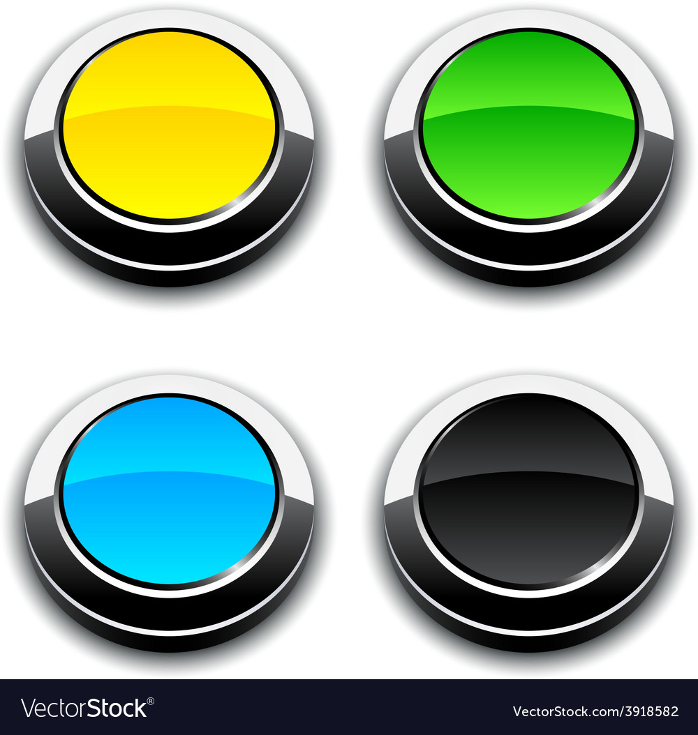 Round 3d buttons vector | Price: 1 Credit (USD $1)