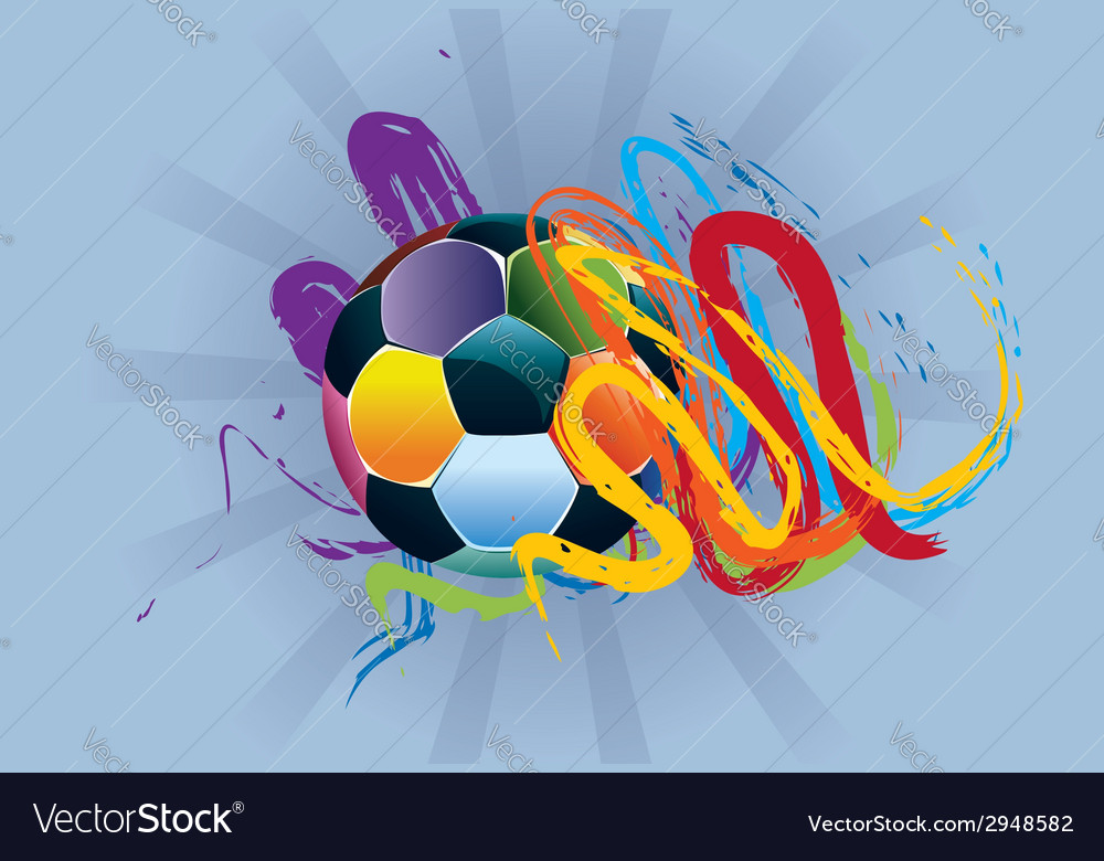 Soccer ball with brush strokes4 vector   Price: 1 Credit (USD $1)
