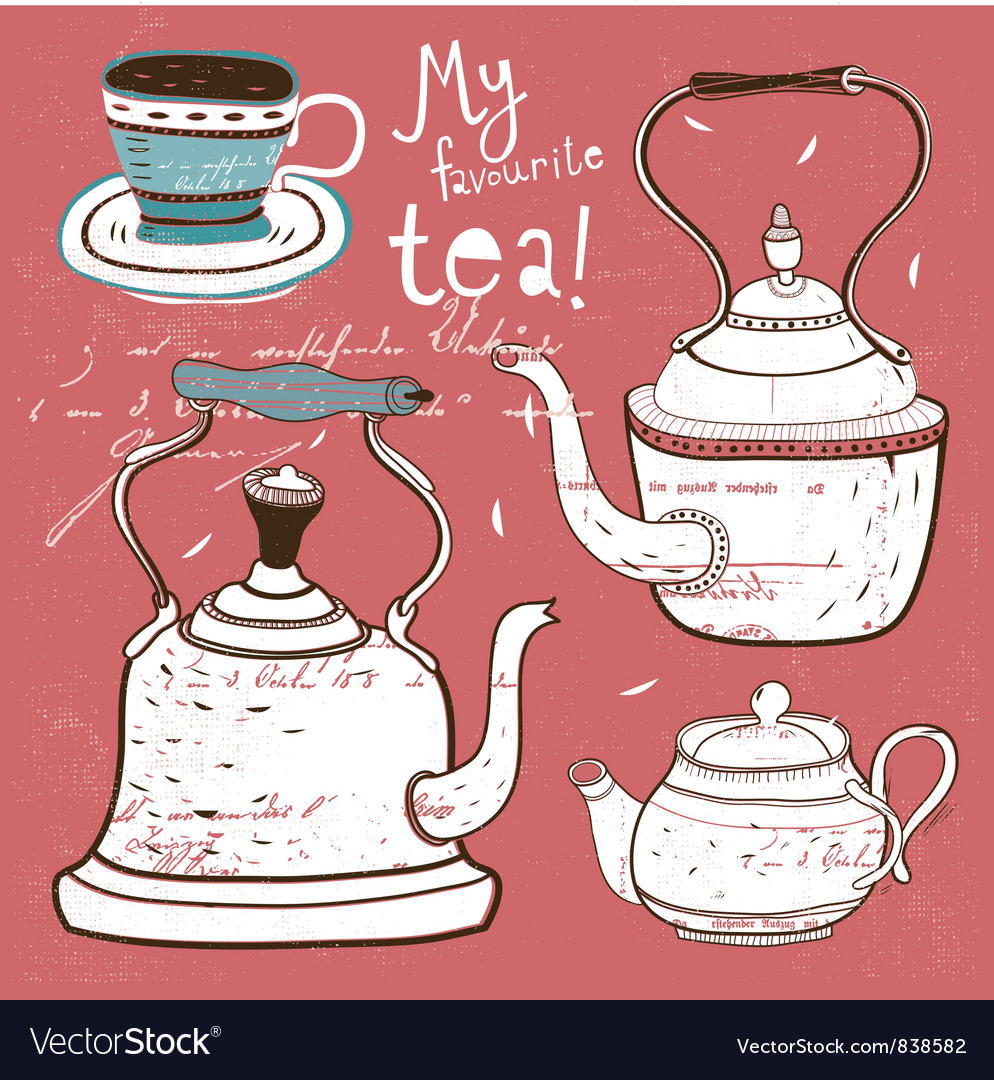 Teatime vector | Price: 3 Credit (USD $3)