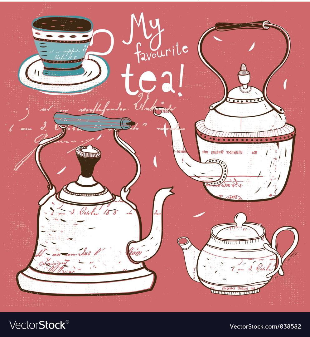 Teatime vector | Price: 3 Credit (USD $3)