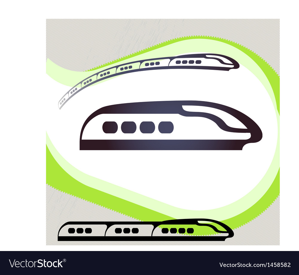 Train retro-style emblem icon pictogram eps 10 vector | Price: 1 Credit (USD $1)