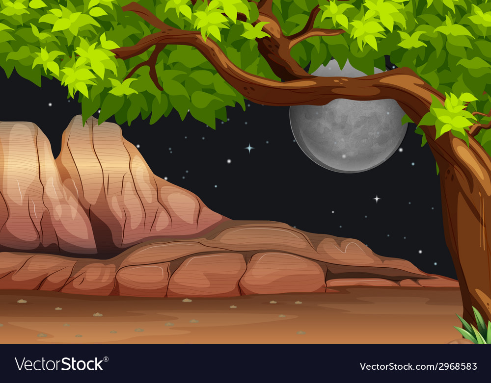 A night scenery vector | Price: 1 Credit (USD $1)