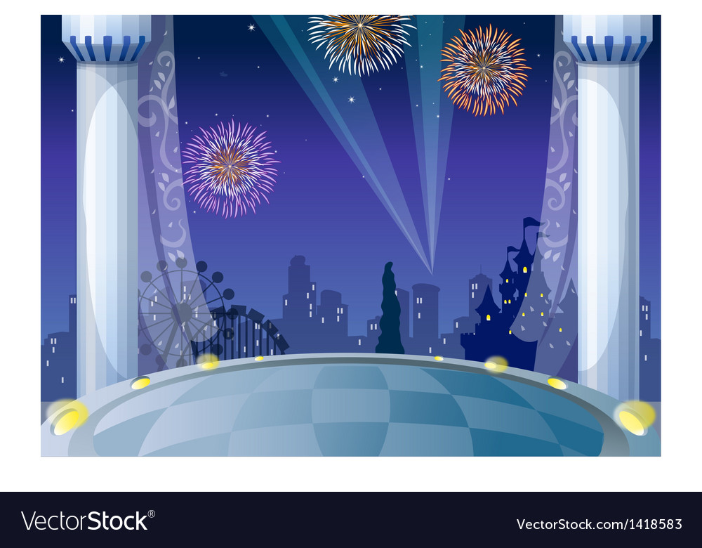 Castle city background vector | Price: 1 Credit (USD $1)