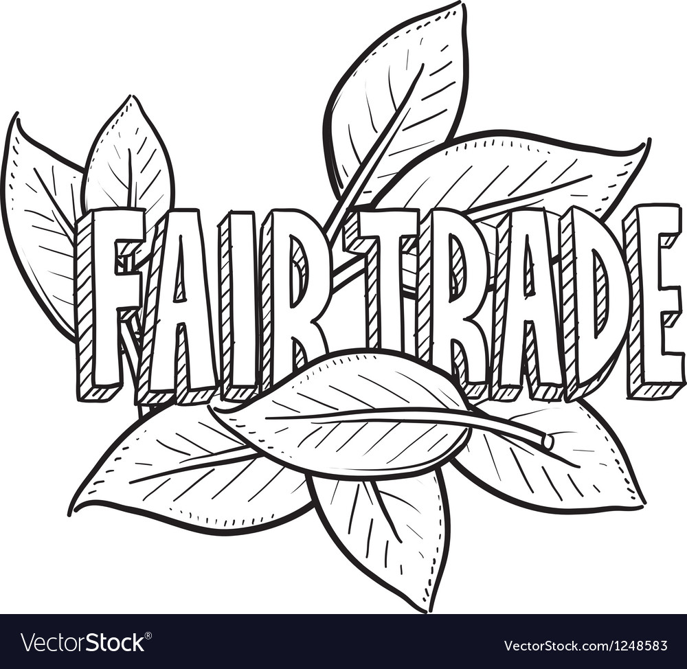 Fair trade vector | Price: 1 Credit (USD $1)