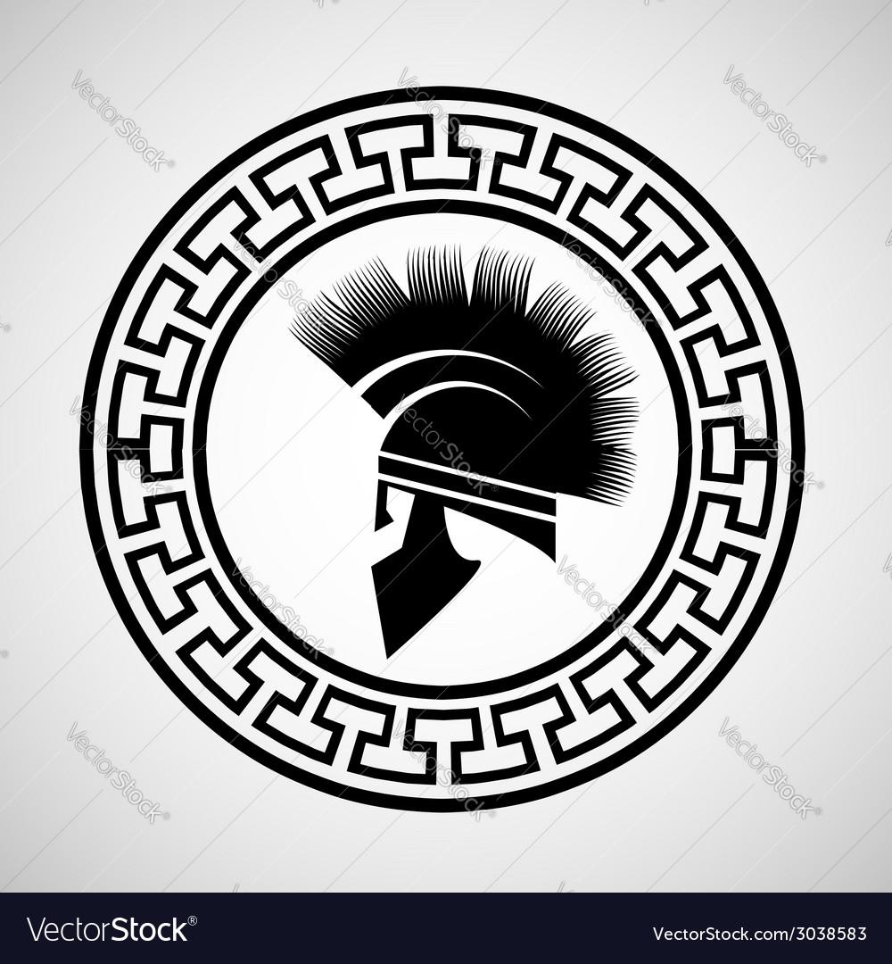Greek helmet vector | Price: 1 Credit (USD $1)