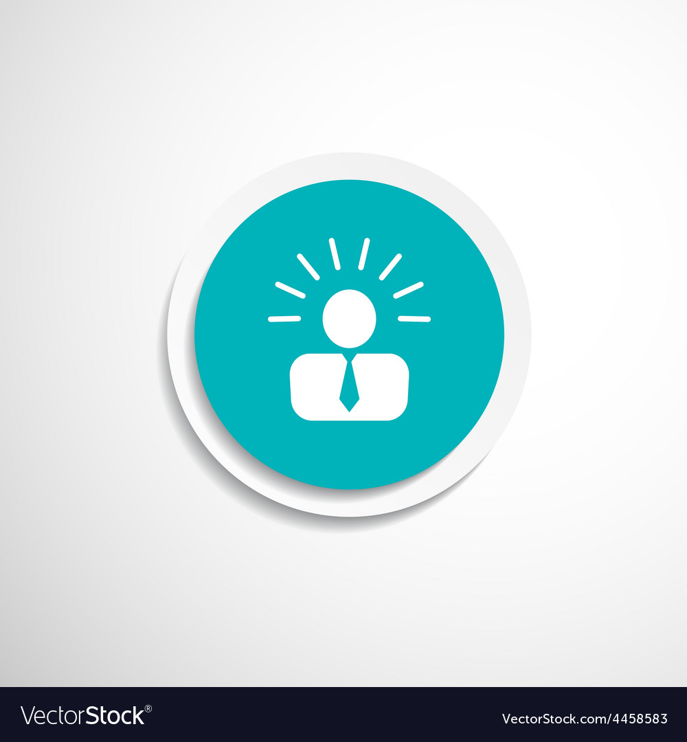 Icon suggestion idea concept lightbulb people vector | Price: 1 Credit (USD $1)
