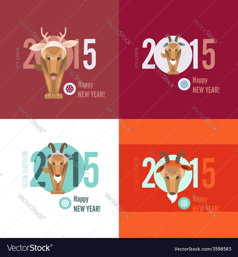Merry christmas and happy new year cards vector   Price: 1 Credit (USD $1)