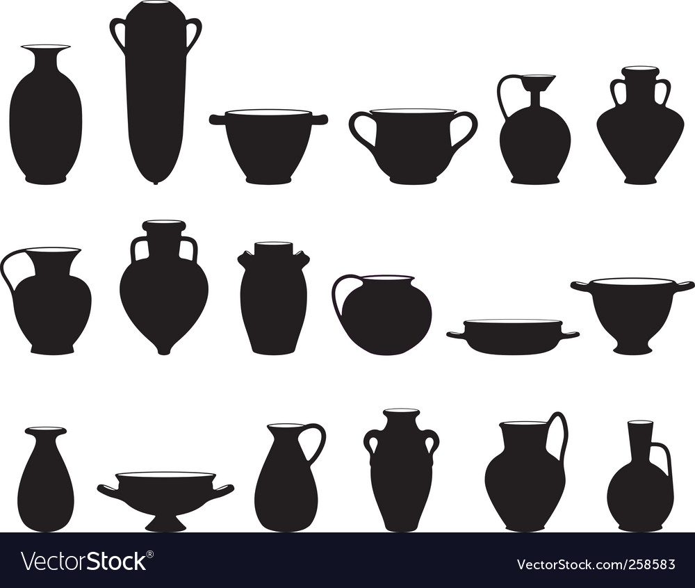 Old pottery vector | Price: 1 Credit (USD $1)
