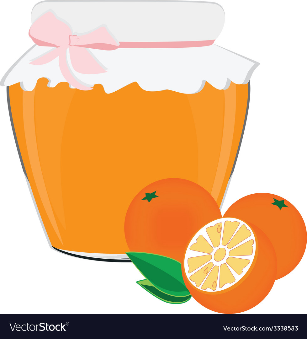Orange jam vector | Price: 1 Credit (USD $1)