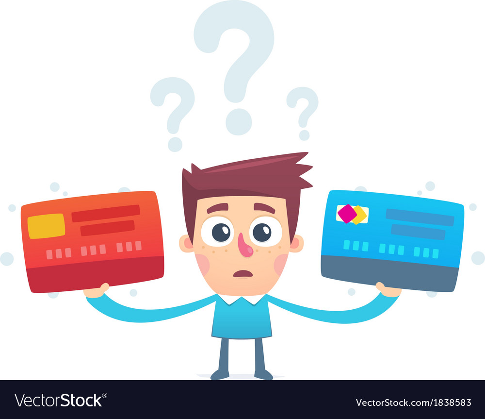 The problem of choosing a credit card vector | Price: 1 Credit (USD $1)