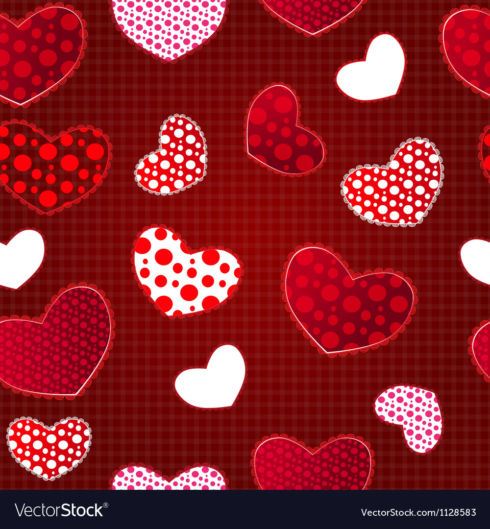 Red love valentins day seamless pattern vector | Price: 1 Credit (USD $1)