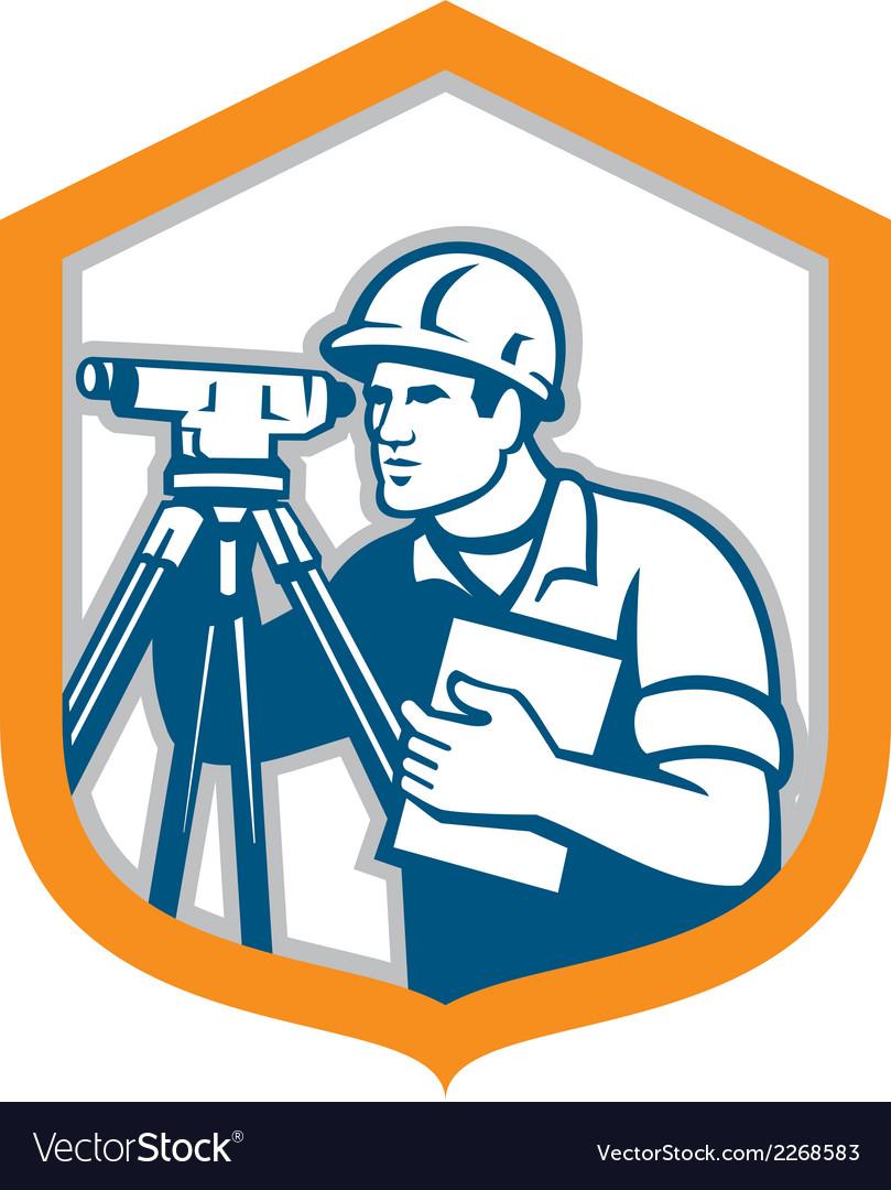 Surveyor geodetic engineer survey theodolite vector | Price: 1 Credit (USD $1)