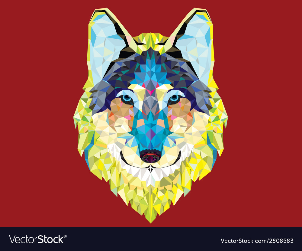 Wolf2 vector | Price: 1 Credit (USD $1)