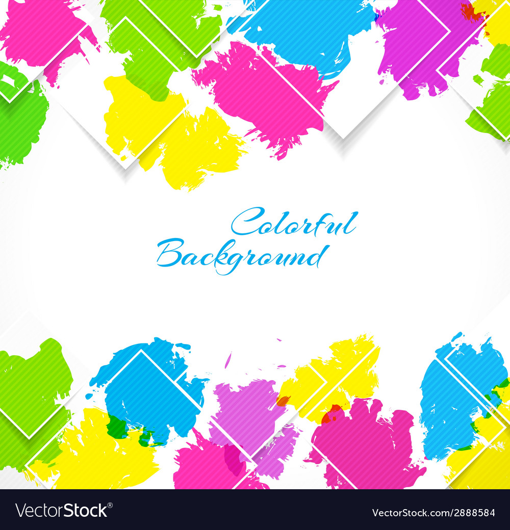Abstract background with colorful splash vector | Price: 1 Credit (USD $1)