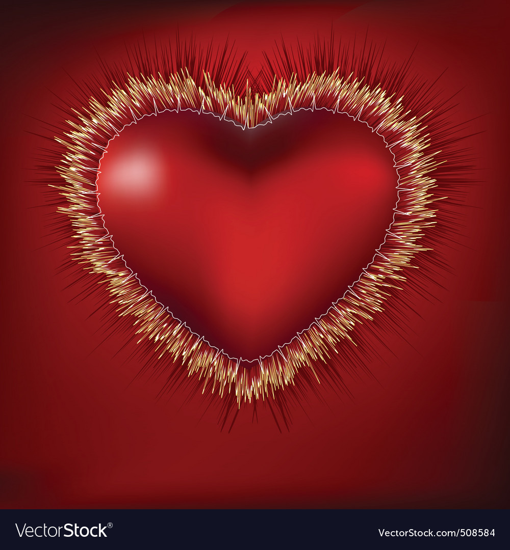 Abstract heart with ekg eps 8 vector | Price: 1 Credit (USD $1)