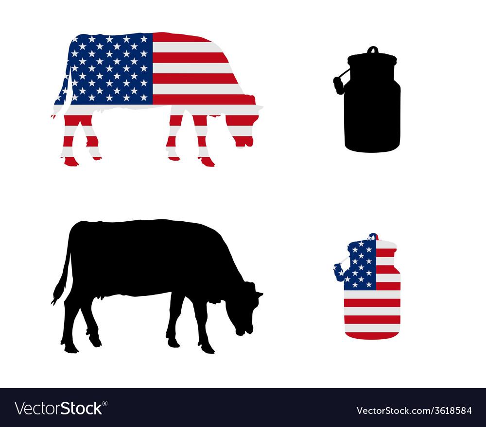 American milk cow vector | Price: 1 Credit (USD $1)