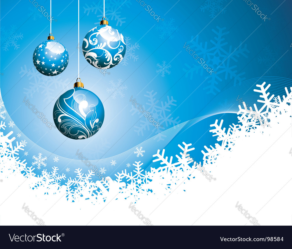Christmas illustration with glass balls vector | Price: 1 Credit (USD $1)