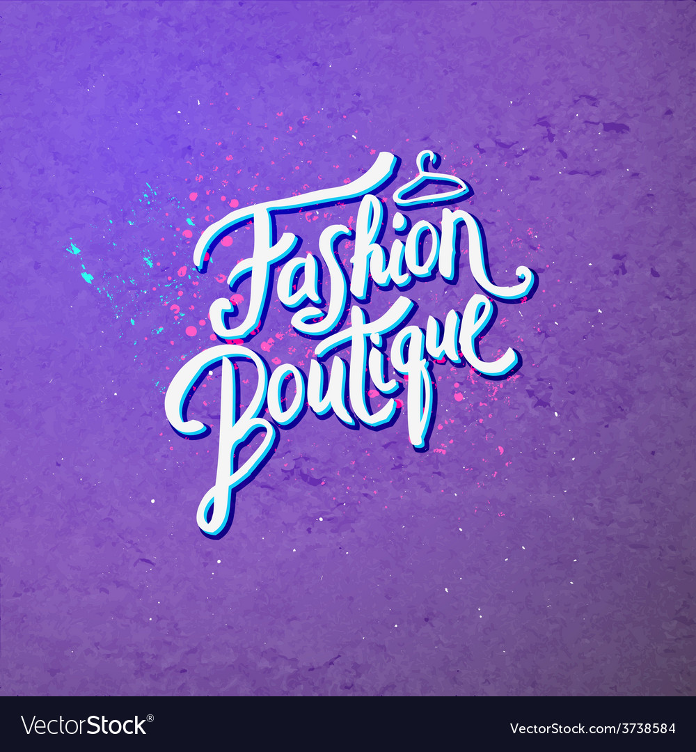 Fashion boutique concept on abstract violet vector | Price: 1 Credit (USD $1)