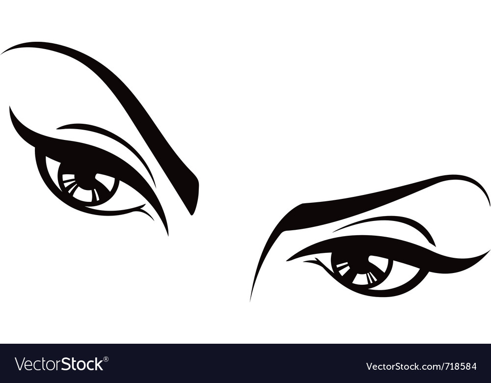 Female eyes set two vector | Price: 1 Credit (USD $1)