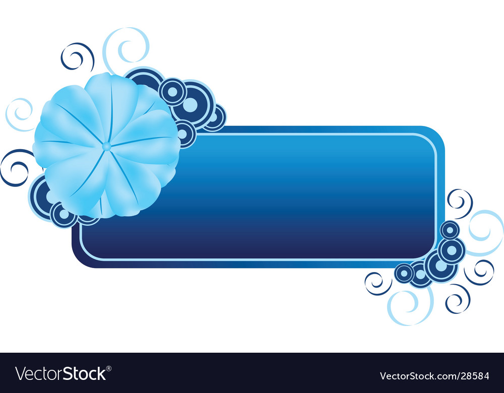 Flower banner vector | Price: 1 Credit (USD $1)
