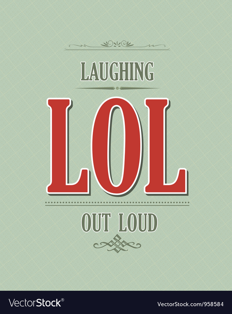 Laughing out loud vector | Price: 1 Credit (USD $1)