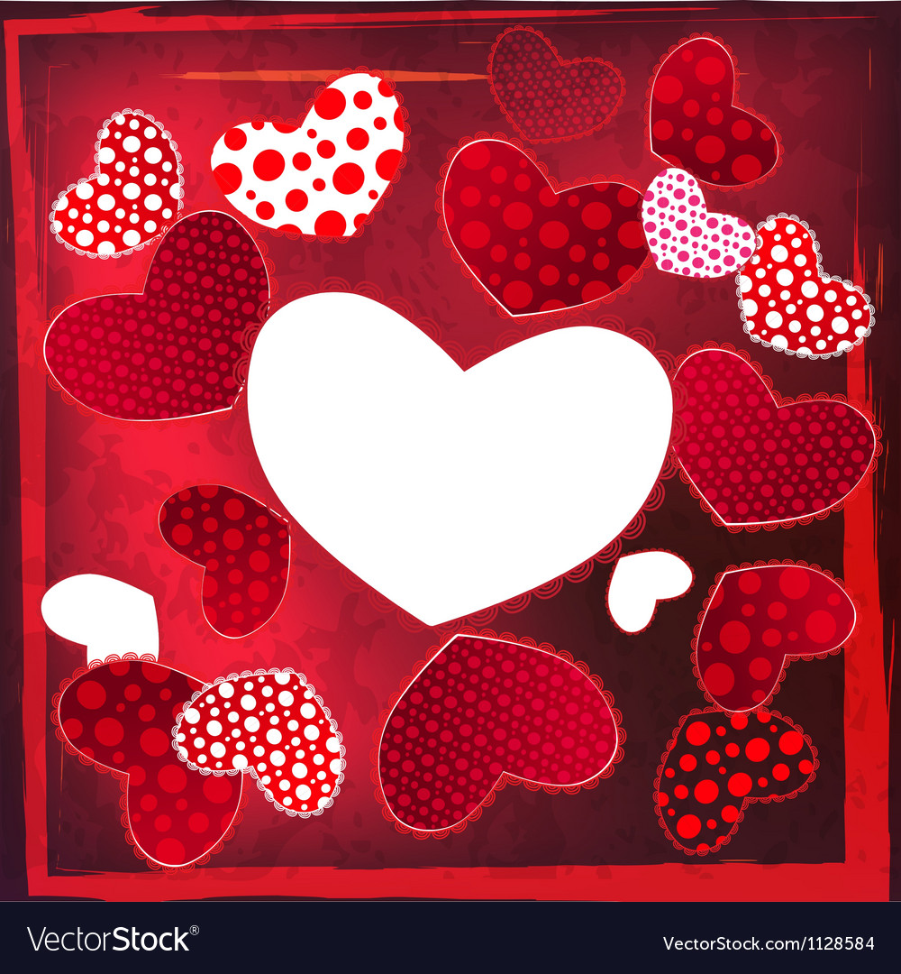 Love valentines day wedding heart card vector | Price: 1 Credit (USD $1)