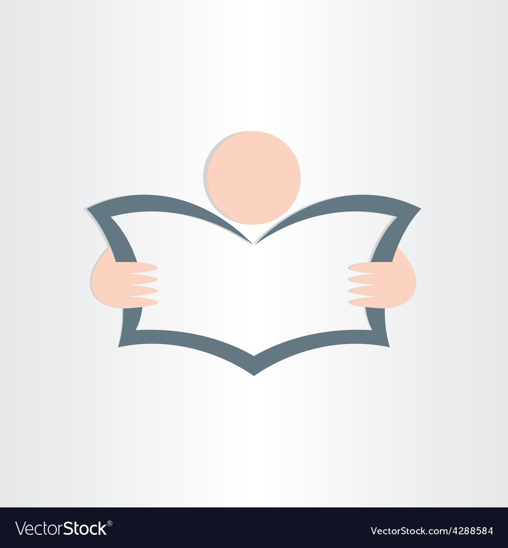 Man reading newspaper book or map icon design vector | Price: 1 Credit (USD $1)