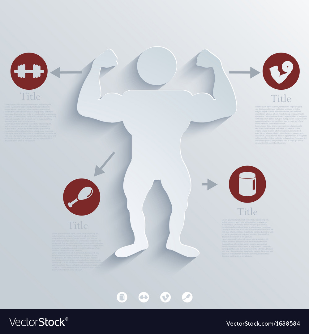Muscled body background eps10 vector   Price: 1 Credit (USD $1)