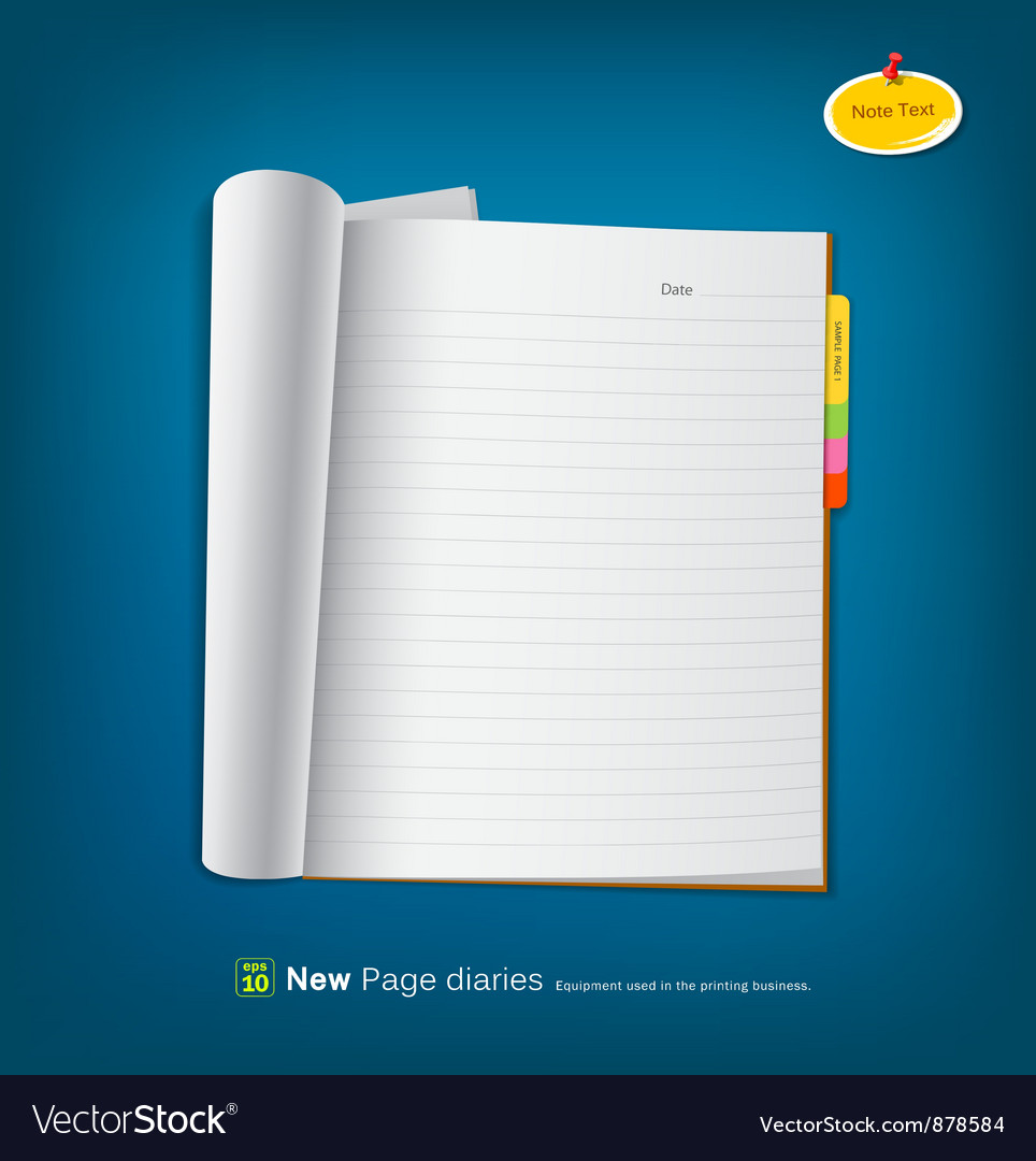 Open new page notebook vector | Price: 1 Credit (USD $1)
