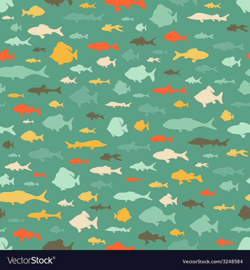 Seamless sea pattern vector | Price: 1 Credit (USD $1)