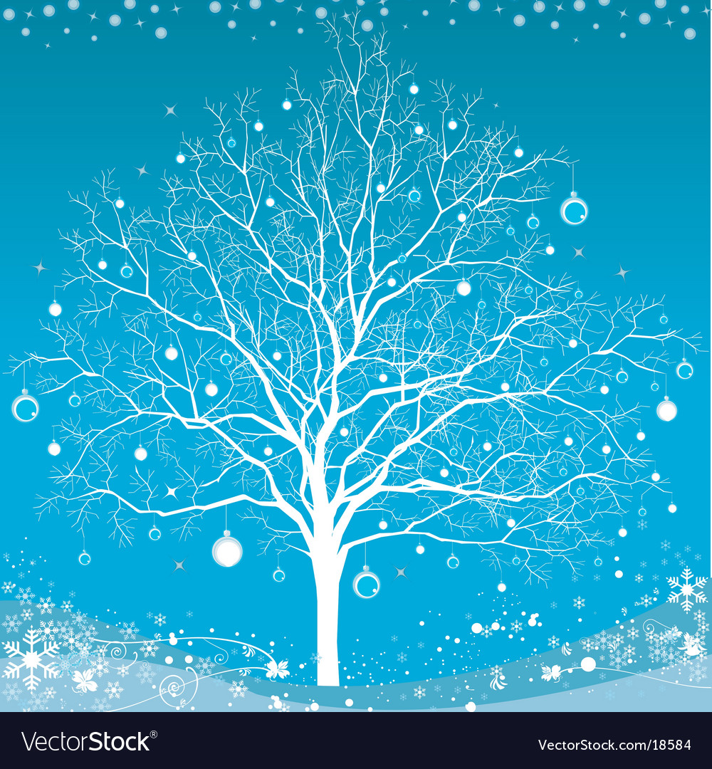 Winter christmas tree vector | Price: 1 Credit (USD $1)