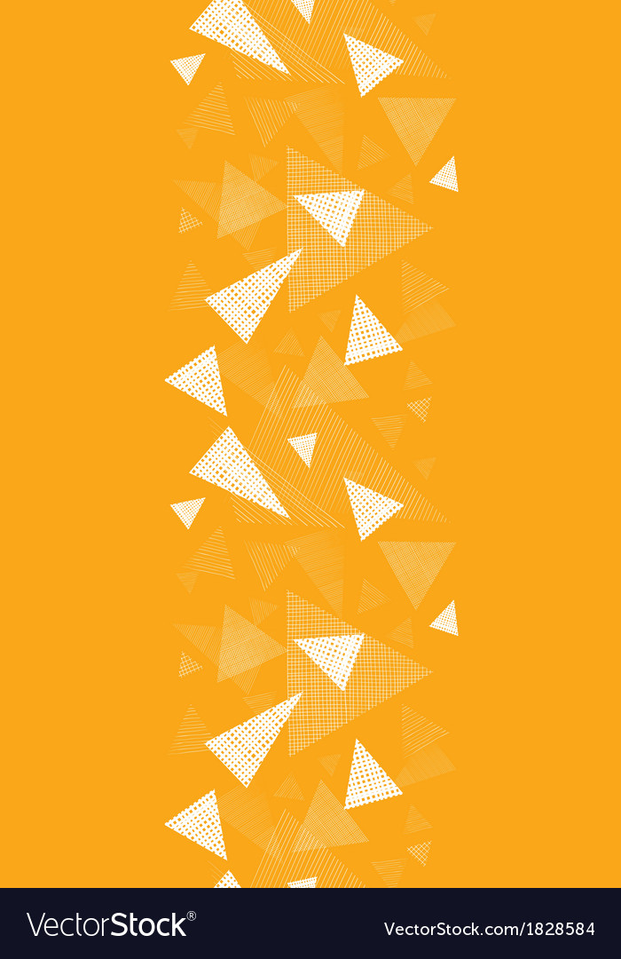 Yellow textured triangles vertical border seamless vector | Price: 1 Credit (USD $1)