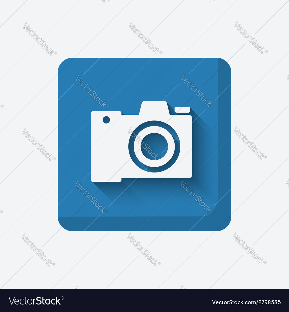 Camera media symbol vector | Price: 1 Credit (USD $1)