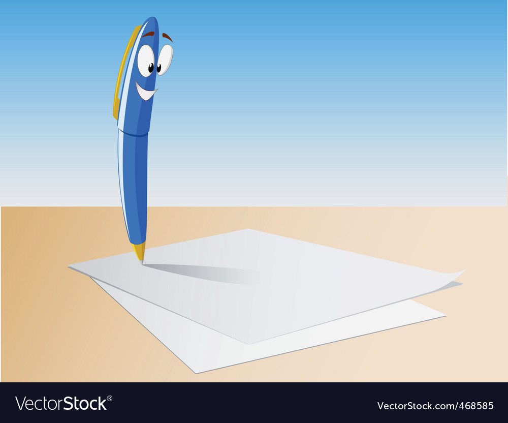 Cartoon pen write vector | Price: 1 Credit (USD $1)