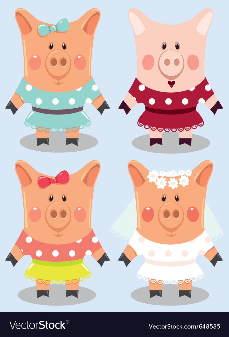 Cartoon pigs vector | Price: 3 Credit (USD $3)