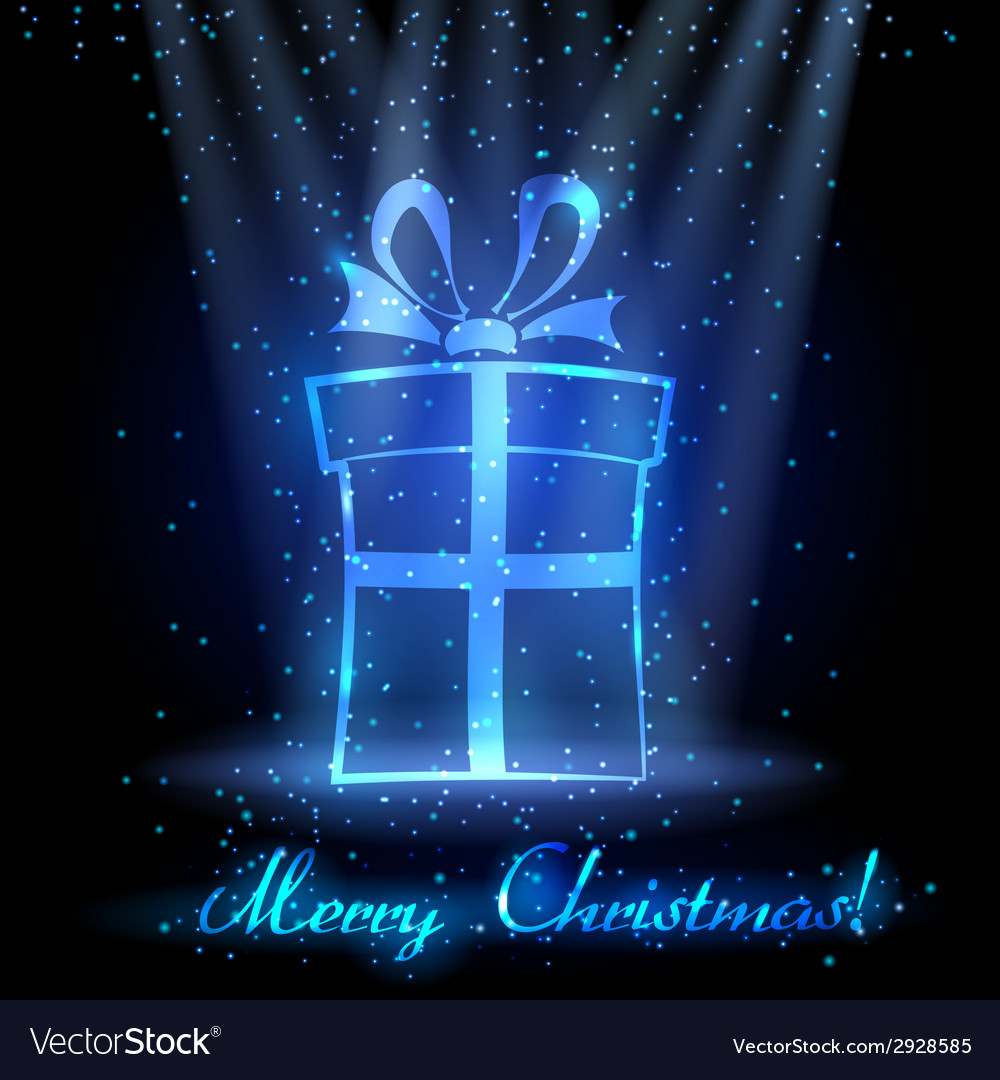 Christmas background with gift box vector | Price: 1 Credit (USD $1)