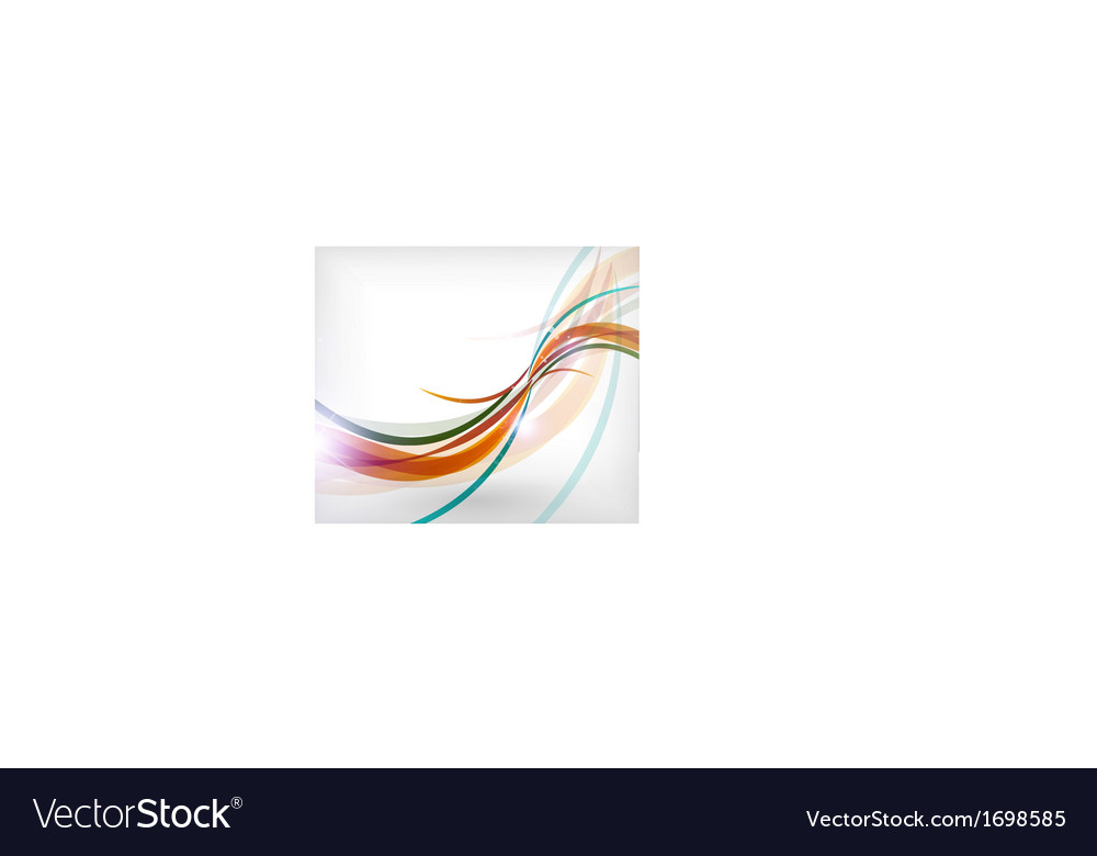 Colorful wave lines patterns business card vector | Price: 1 Credit (USD $1)