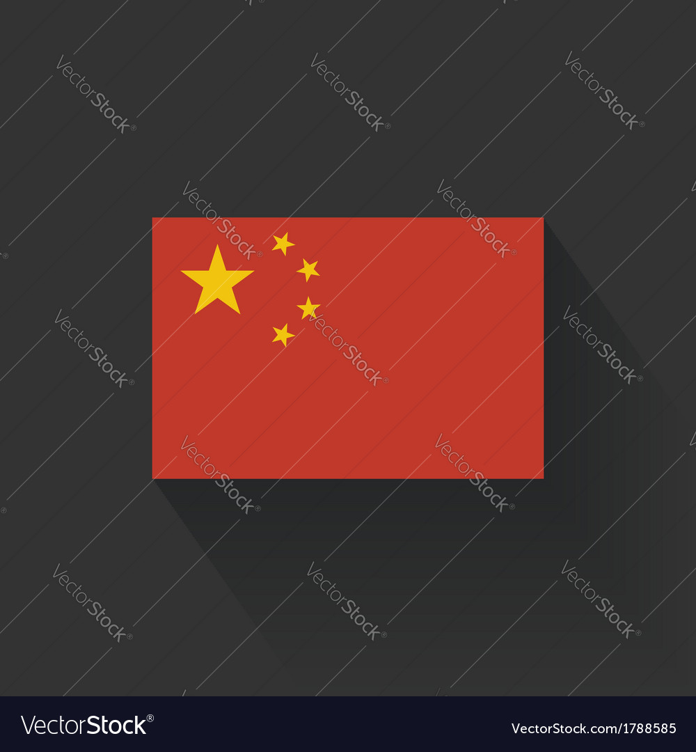 Flat flag of china vector | Price: 1 Credit (USD $1)